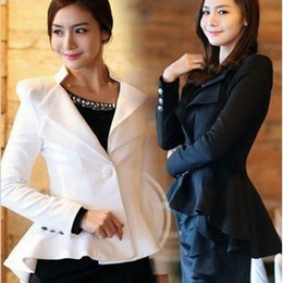 Wholesale Embroidery Women Suits Lace - Womens coat clothing One Button Lapel Casual Suits Tuxedo Blazer Jacket Outerwear Coats 5022