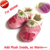 WINTER Genuine leather Baby soft sole shoes shoe with fur li...
