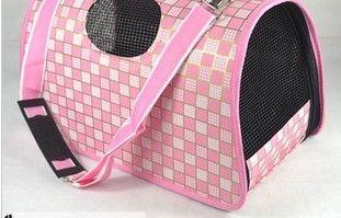 무료 배송, 애완 동물 운반용 가방, 개 운반 가방, foldable 애완 동물 가방, 밀라노 그리드, 핑크, 판매에 대한 1pcs