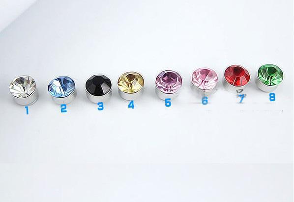 50 paren * 6mm Diamond Crystal Oorbellen (zonder doorboorde oren) Magnetische oorklem Oorsluiting oorbellen