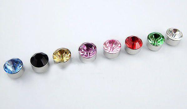 50 쌍 * 6mm 다이아몬드 크리스탈 귀걸이 (귀 뚫음없이) 자기 귀 클립 귀걸이 귀걸이 귀걸이