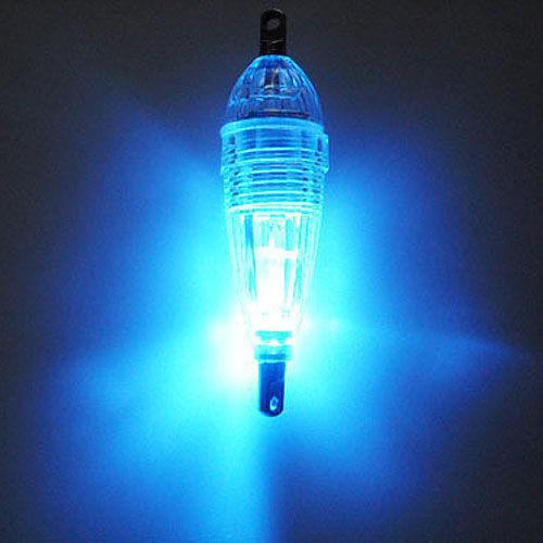 Mini LED LED de profundidad Pesca submarina Squid Squid Lure Light Blue Flashing # 168s