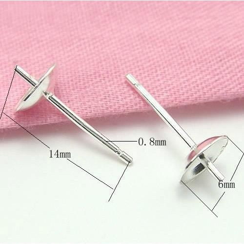 20pcs/lot 925 Sterling Silver Earring Needles Finding For DIY Craft Jewelry 0.8x6x14mm WP042 Free Shipping