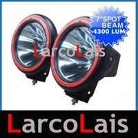 "Wholesale Hid Offroad Light Spot - 2pcs 55W 7"" HID Xenon Driving Offroad Vehicles Spot Flood Lights JEEP 4WD 4X4"