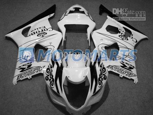 Schwarz Weiß Corona Brandneues Bodykit Suzuki GSXR1000 2003 2004 K3 GSXR 1000 03 04 freie Windschutzscheibe
