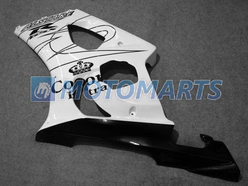 Corona noir blanc Kit carrosserie neuf suzuki GSXR1000 2003 2004 K3 GSXR 1000 03 04 gratuit