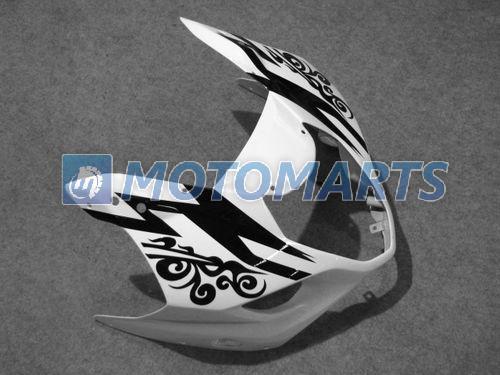 ブラックホワイトコロナ真新しいボディキットスズキGSXR1000 2003 2004 K3 GSXR 1000 03 04 Free Windscreen