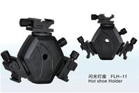 yanıp sönen ışık standı toptan satış-Flaş LED Video ışığı standı Sıcak Ayakkabı Tutucu FLH-11 Döner aydınlatma sıcak ayakkabı Braketi Dağı