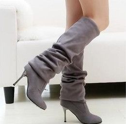 Discount pleat fabric - wholesaler free shipping factory price new style hot seller special price fashion women high heel water proof boot shoes