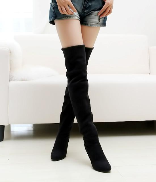 wholesaler factory price new style hot seller special price fashion women high heel water proof boot shoes