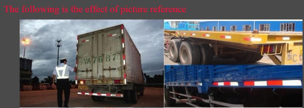 50M / Roll Billig Großhandel 5000 * 5 cm Reflektierende Klebstoff Warnband für Weiß / Rot Aus China