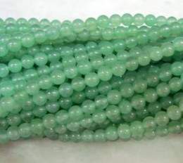 Wholesale 6mm Round Gemstone Beads - 4mm,6mm,8mm,10mm Natural Green Aventurine Round Jade Gemstone Loose Beads 15inch AAA