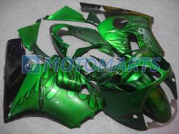 carenagem verde zx12r Desconto kit de carenagem de chama preta para Kawasaki ninja ZX-12R 2000 2001 ZX12R 00 01 ZX 12R 00-01