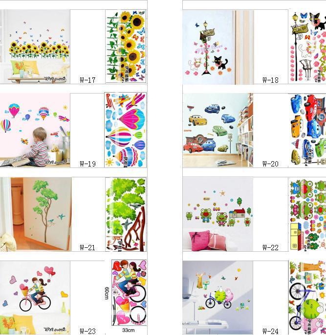 Kids Wall Stickers Decals Art Flower Tree Wall Decal Sticker