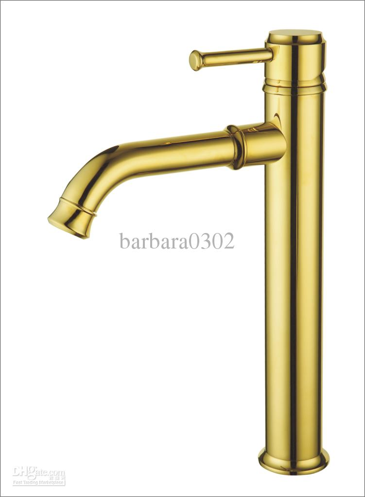 gold brass basin faucet bathroom hot&cold sink tap ti-pvd mixer high ...