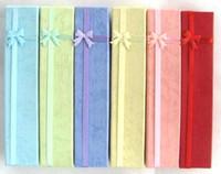 cajas de pulsera larga al por mayor-Nuevo 48 piezas Moda multicolor Caja larga de joyería Collar o pulsera Cajas de regalo 20x4cm