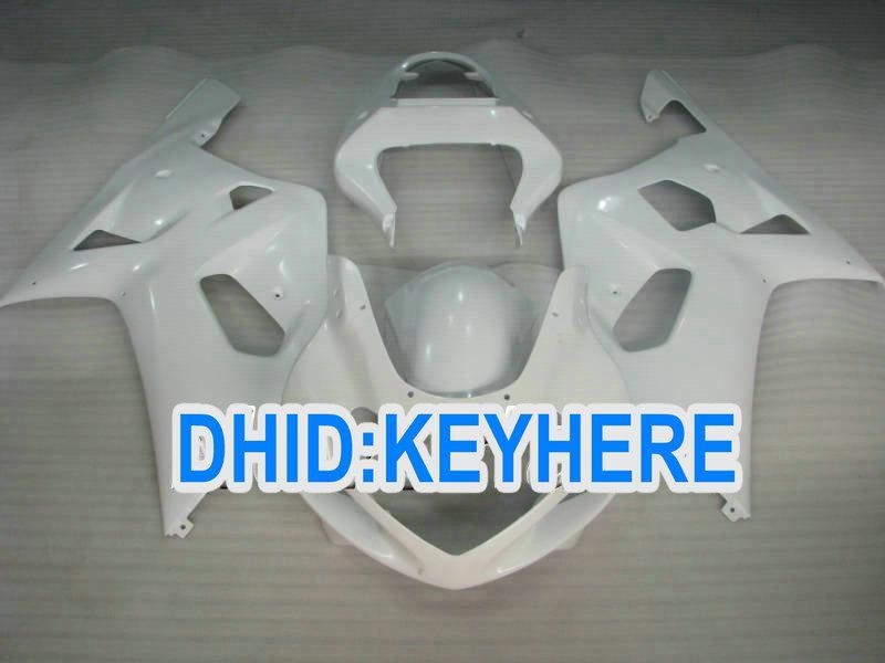 SNL01 White Racing Kit de carénage pour Suzuki 2001 2002 2003 GSXR 600 750 GSX-R600 R750 01 02 03