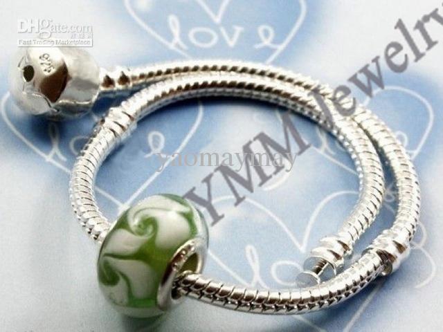 Partihandel 925 Sterling Silver Platiserade Armband Gratis Frakt Snake Chain Charm Armband
