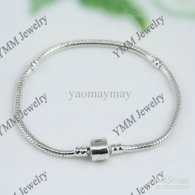 Wholesale 925 Sterling Silver Plated Bracelets Snake Chain Charm Bracelets