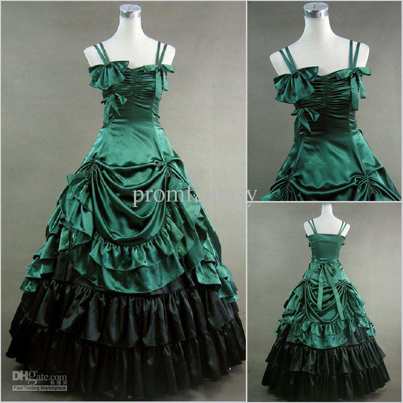 Green and Black Wedding Dresses