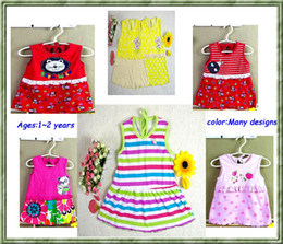 Wholesale Sleeveless Pinafore Girl - 50pcs lot High quality Baby Girl Dress - Girl sundress jumper skirt Girl pinafore baby dress Dresses