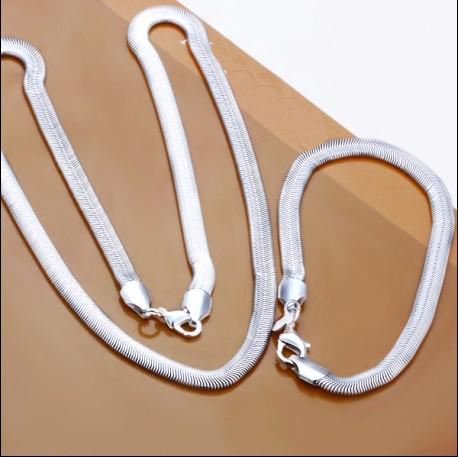 Best-selling 6MM snake chain necklace bracelet charm jewelry set fashion jewelry