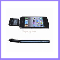 Wholesale Alcohol Tester Iphone 4s - Digital LCD Breath Alcohol Tester for iPhone 4 4S Breathalyzer for iphone 4 4s