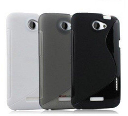 Wholesale G23 One - S Line Wave TPU Gel Skin Case Cover for HTC One X G23 S720e Rubber Silicone Back Cover Black White