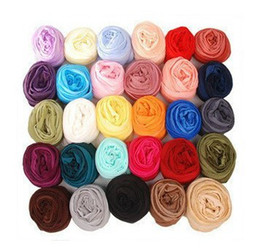 Wholesale Chiffon Scarf Fabric - Mixed selling Girls Candy Scarves Elegnant Gauze Fabric Long Scarf 160*30CM Woman's Wraps