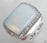 anillos tibetanos de la joyería de la turquesa al por mayor-Anillo de piedra lunar tíbet de los hombres al por mayor barato 8 9 10 11