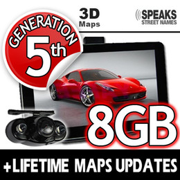 "Wholesale Chinese Audi Navigation - 25% off!! 7"" Car GPS navigation with Ebook bluetooth AV IN+FM+DDR128M 8G+ 2013 3D latest map+Wireless Reverse Camera+DHL Free shipping"
