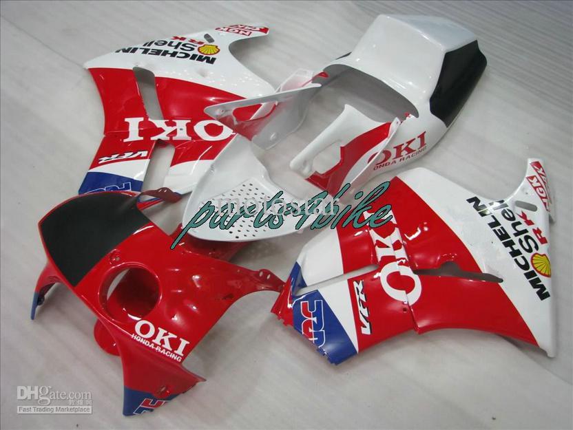 OKI Motorcykel Fairing Kit Fit för Honda VFR400 NC30 VFR 400 NC 30 RVF400R 1989-1993 RVF 400RR MC30