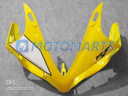 고품질 노란색 맞춤형 바디 용 YZF-R1 2007 2008 YZF R1 07 08 YZF-R1 YZF1000 페어링 키트 앞 유리