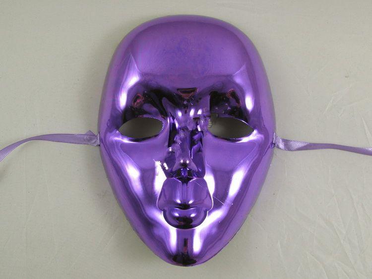 Máscara de festa Máscara de pintura branca Máscara de dança Galvanoplastia Máscara Branca