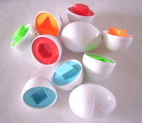 Wholesale Hot Baby Learn - HOT SALE 30pcs Shape Wise Pretend Puzzle Smart Eggs Baby Kid Learning Kitchen Toys Tool Gift