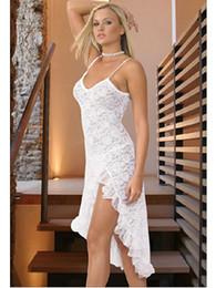 Beyaz / Siyah Brezilya Kadınlar Moda Törenlerinde 9015 Seksi Iç Çamaşırı dantel uzun elbise + G-String 3 adet / grup cheap brazil lace nereden brezilya dantel tedarikçiler