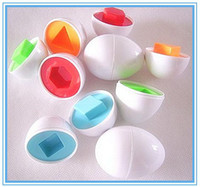 Wholesale Sale Eggs - Free Shipping HOT SALE 6pcs lot colorful shape-matching eggs shape puzzle educational toy