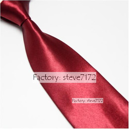 Wholesale white cravat - Neck tie men's ties necktie business ties wholesale ties rayon ties solid color tie neckties cravat