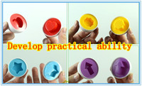 Wholesale 3d Egg Puzzle - New arrive Trialsale 120pcs Hotsale Colorful egg shape puzzle for kids 3D shape puzzle toy