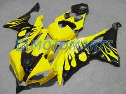 Windscreen For Yamaha R6 Canada - black flame body FOR Yamaha YZF R6 08 09 10 YZFR6 YZF-R6 600 2008 2009 2010 fairing kit &windscreen