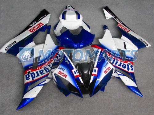 corpo branco / azul PARA Yamaha YZF R6 2006 2007 YZFR6 YZF-R6 YZF600 06 07 kit de carenagem pára-brisas