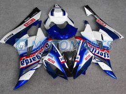 Windscreen For Yamaha R6 Canada - white blue body FOR Yamaha YZF R6 2006 2007 YZFR6 YZF-R6 YZF600 06 07 fairing kit &windscreen