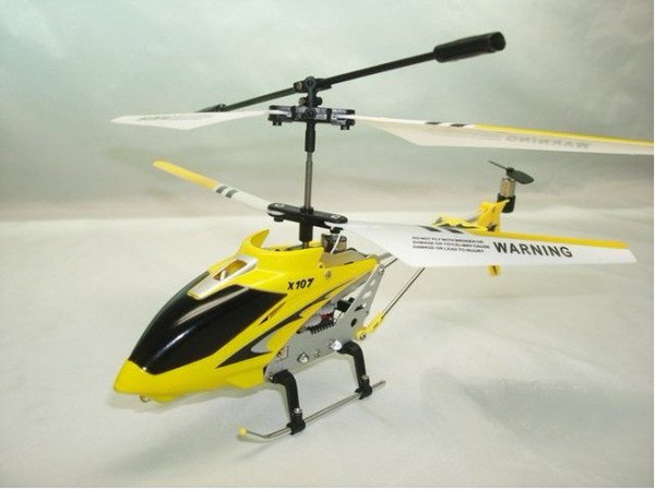 best selling X107- GYRO 3CH RC Helicopter X107 Metal Frame with Colorful Led Lights,Free USB Cable+Tail balde