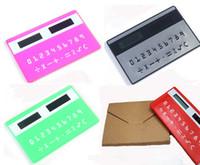 Wholesale Mini Calculator Gift - Solar Card Calculator mini Calculator Solar-powered Counter Doulex Gifts 100pcs Solar Card Calculator mini Calculator Solar-powered