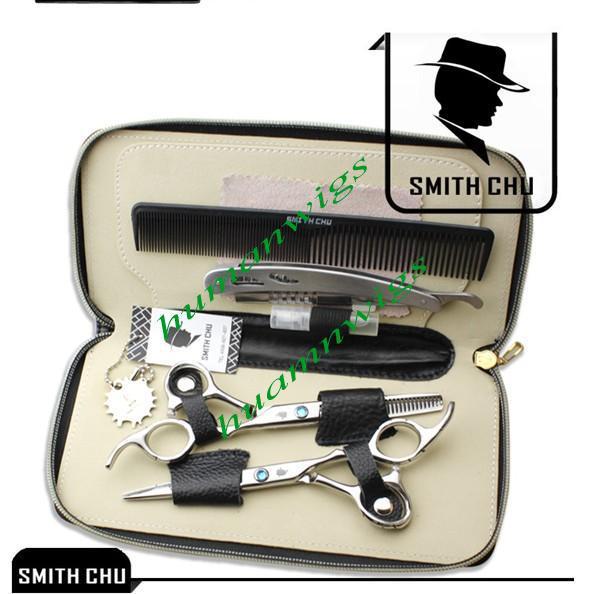 God kvalitetssalong frisör skärning sax och gallring sax professionella kit, hårskenor för hushåll, 6,0 tum, jp440c lzs0006