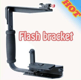 Wholesale Rotating Flash Bracket Stand Grip for Canon Nikon Pentax