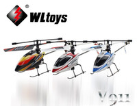 Wholesale Rc Mini Outdoor Helicopter - 2.4G 4CH Single Blade Gyro RC MINI Helicopter Outdoor V911 kit 11391