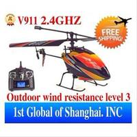 вертолет rc 2.4ghz оптовых-бесплатная доставка -Новый пакет WL V911 4CH 2.4GHz ЖК-экран Solo pro R / C RC Вертолет RTF