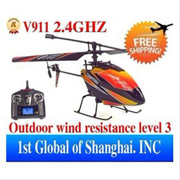 Wholesale big screen lcd - free shipping -New package WL V911 4CH 2.4GHz LCD screen Solo pro R C RC Helicopter RTF