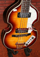 NEW Arrival Violin style 4 Strings Electric bass Guitarras em Honey Burst Guitarra chinesa